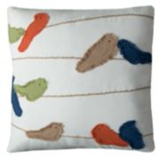 Rizzy Home Frayed Birds On A Wire Throw Pillow