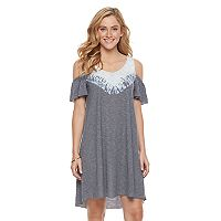 Women's SONOMA Goods for Life™ Cold-Shoulder Tie-Dye Dress