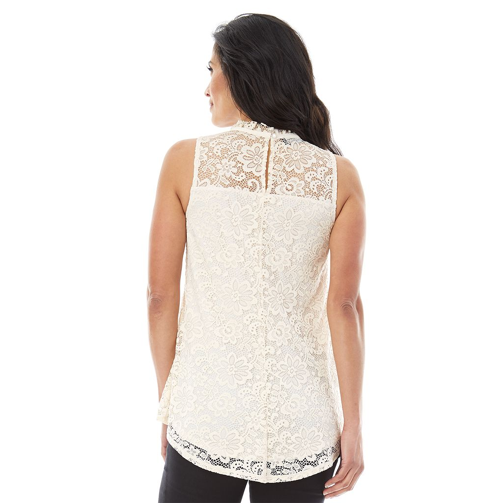 Women's AB Studio Lace Swing Tank