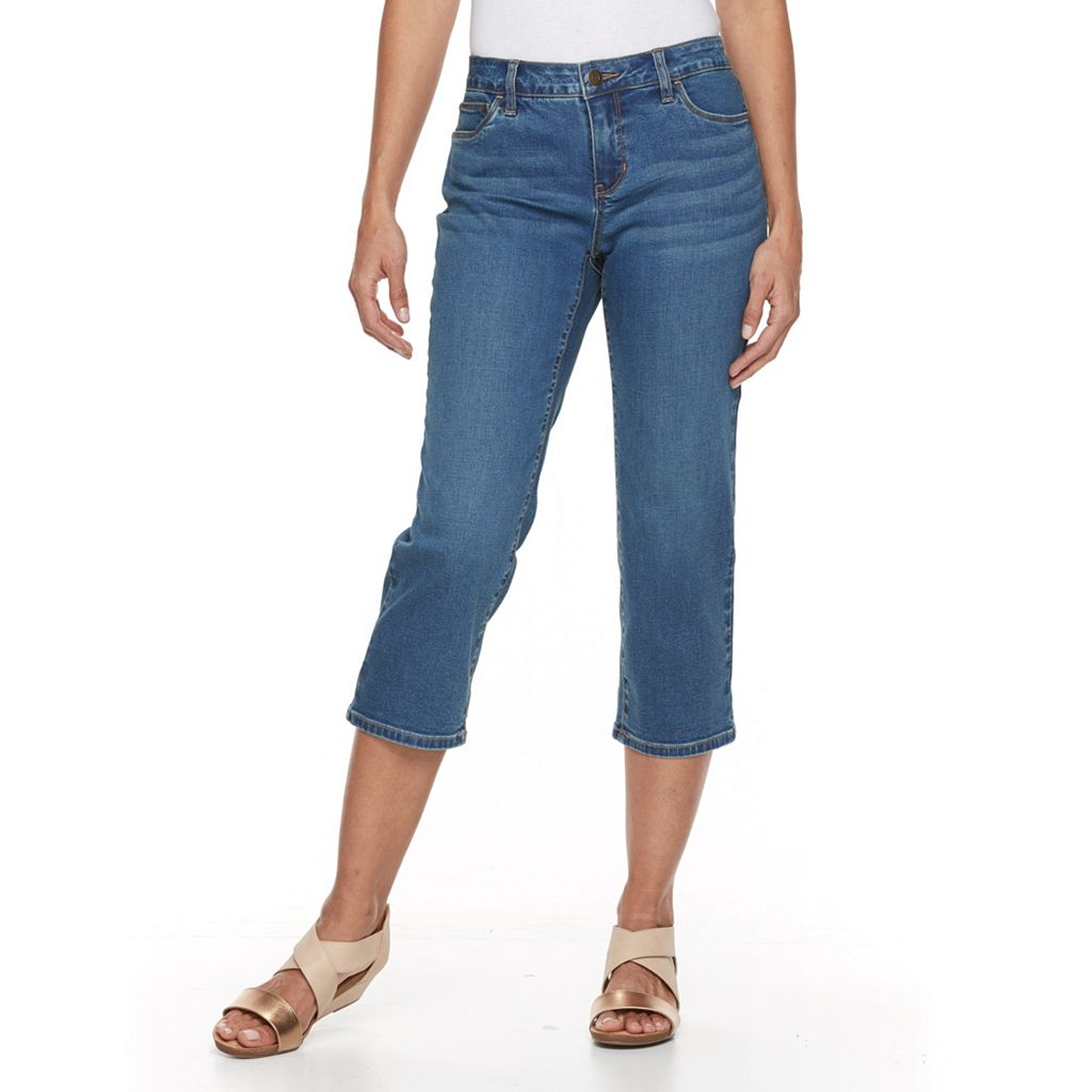 Women's Croft & Barrow® Cuffed Capri Jeans