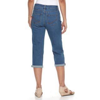 Women's Croft & Barrow® Cuffed Capri Jeans