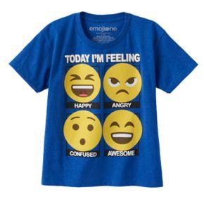 "Boys 4-7 Emoji ""Today I'm Feeling"" Graphic Tee"