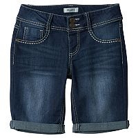 Girls 7-16 Mudd® Dark Wash Bermuda Jean Shorts