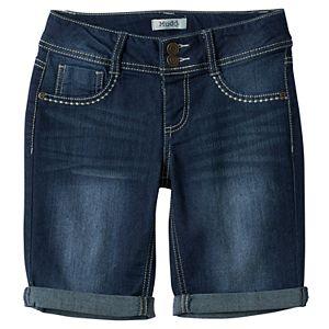 Girls 7-16 Mudd® Dark Wash Bermuda Jean Shorts