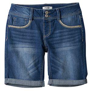 Girls 7-16 Mudd® Medium Wash Bermuda Jean Shorts