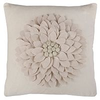 Rizzy Home Dimensional Flower Throw Pillow