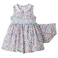 Baby Girl Bonnie Jean Floral Smocked Dress