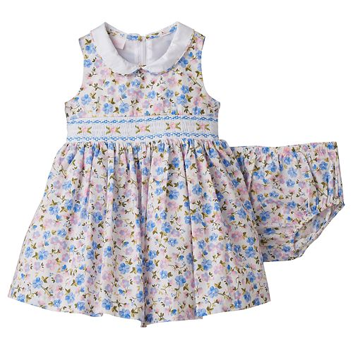 dcfbfaae5 Baby Girl Bonnie Jean Floral Smocked Dress