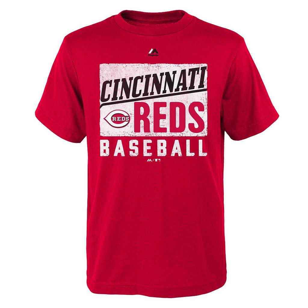Boys 8-20 Majestic Cincinnati Reds Out of the Box Tee