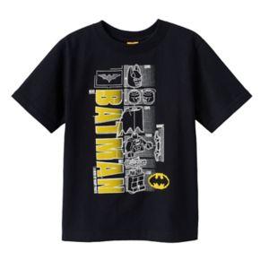 "Boys 4-7 LEGO DC Comics Batman ""A Hero of Many Parts"" Tee"