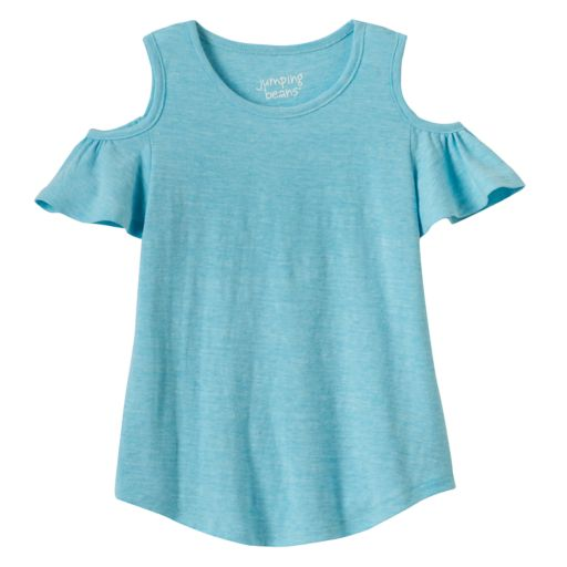 Girls 4-10 Jumping Beans® Cold Shoulder Top