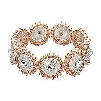 Jennifer Lopez Two Tone Pinwheel Stretch Bracelet