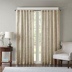 Madison Park Pearl Leaf Jacquard Window Curtain