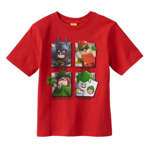 Boys 4-7 LEGO DC Comics Batman Heroes & Villains Graphic Tee