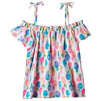 Girls 4-10 Jumping Beans® Print Off-the-Shoulder Top