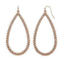 Jennifer Lopez Simulated Crystal Open Teardrop Earrings