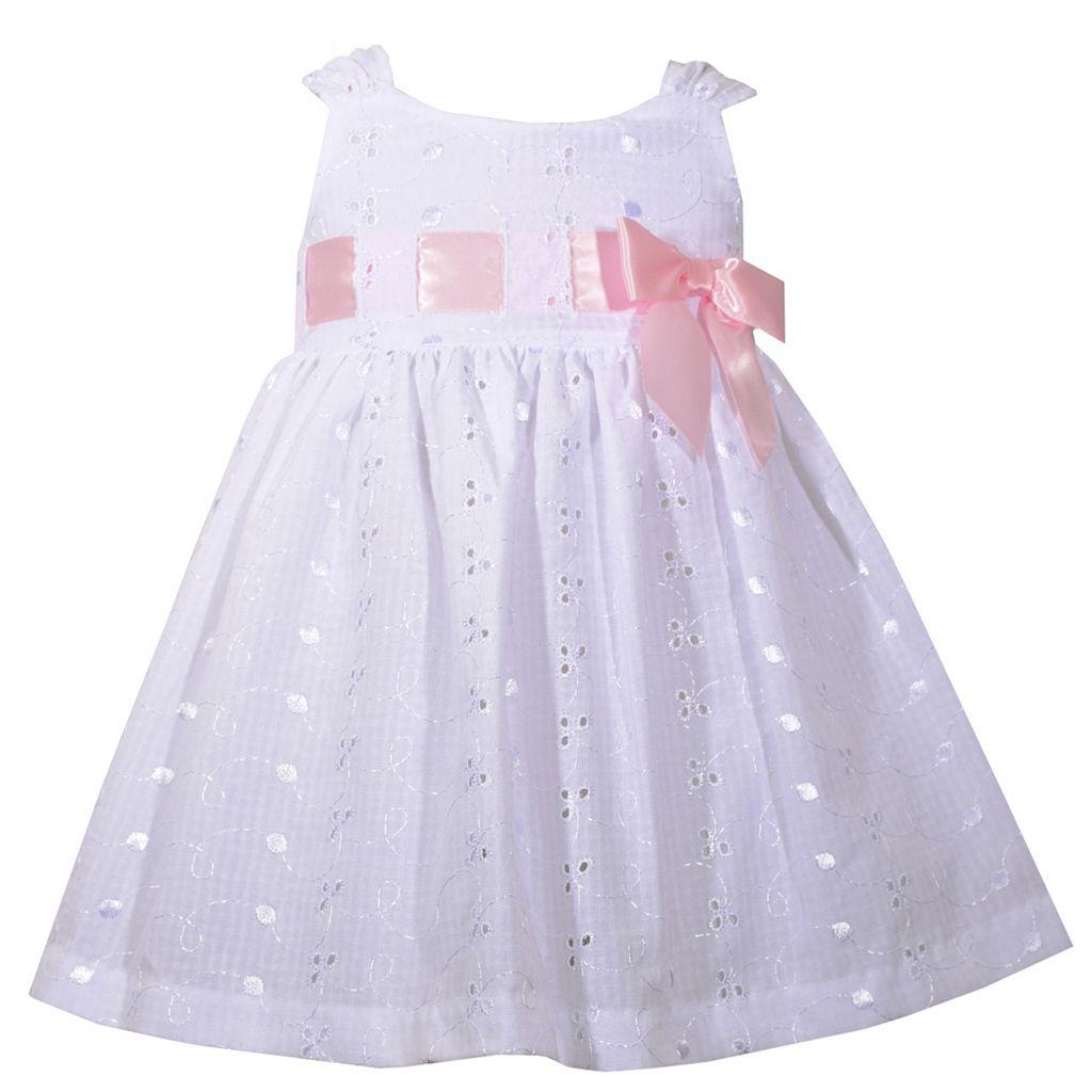 Baby Girl Bonnie Jean Eyelet Bow Dress