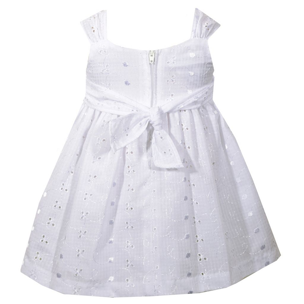 Baby Girl Bonnie Jean Eyelet Bow Dress