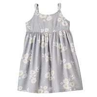 Girls 4-10 Jumping Beans® Tiered Floral Chambray Dress