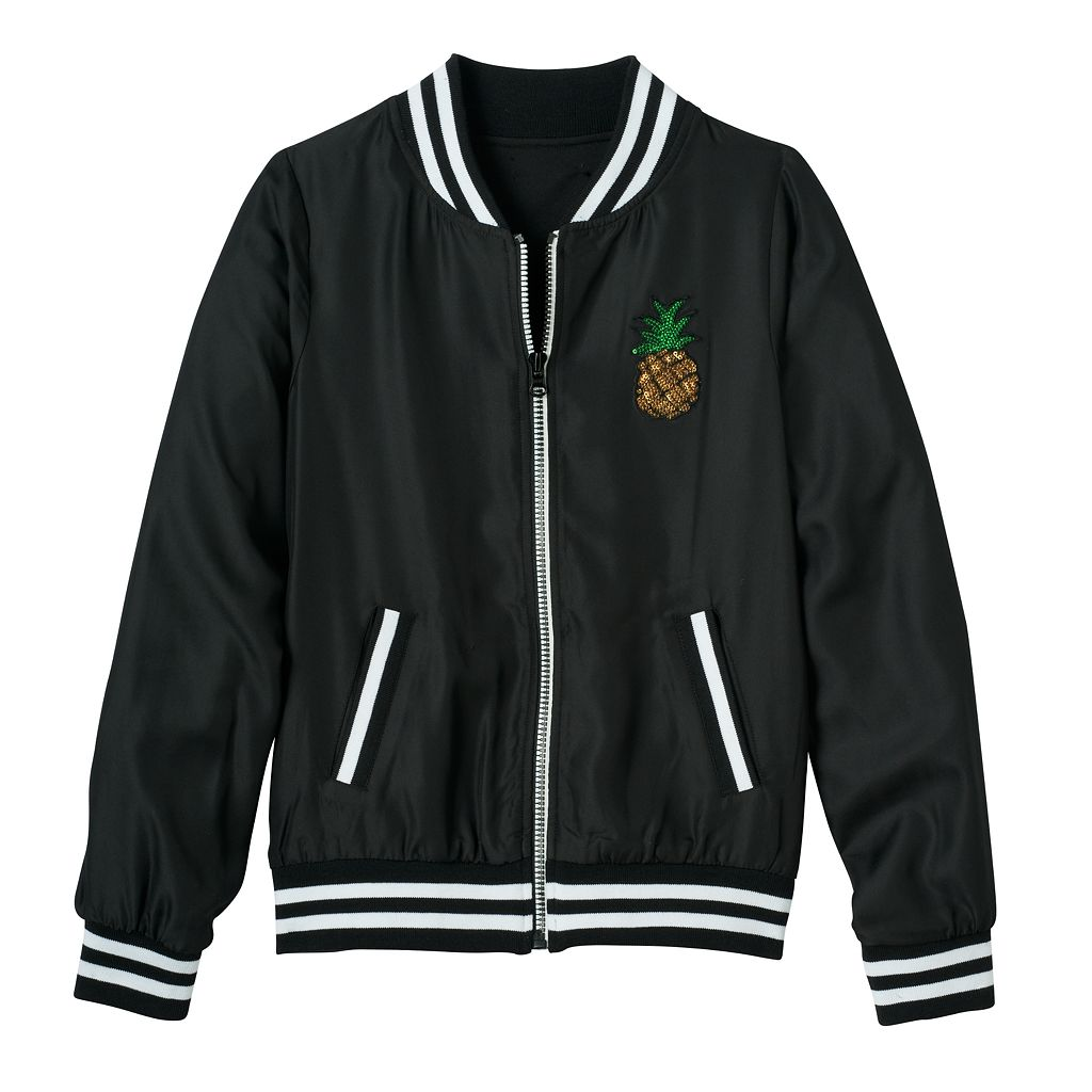 Girls 7-16 SO® Woven Bomber Jacket