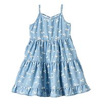 Girls 4-10 Jumping Beans® Tiered Chambray Dress