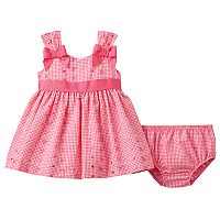 Baby Girl Bonnie Jean Gingham Eyelet Dress