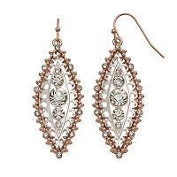 Jennifer Lopez Two Tone Openwork Marquise Drop Earrings