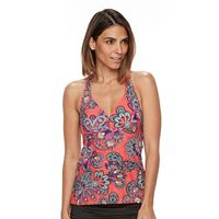 Women's Croft & Barrow® Printed Halterkini Top