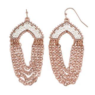 Jennifer Lopez Two Tone Openwork Chain Swag Earrings
