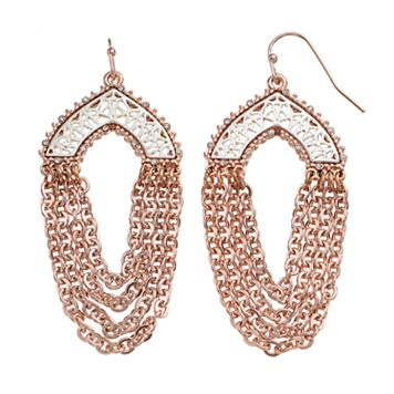 Jennifer Lopez Two Tone Openwork Chain Swag Earrings
