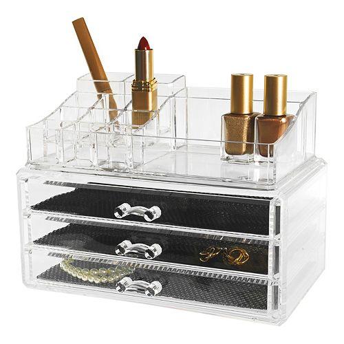 Kiera Grace Jewelry & Makeup Storage Organizer 2-piece Set