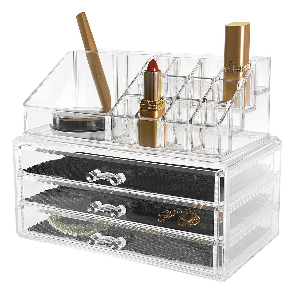Kiera Grace Makeup & Jewelry Storage Organizer 2-piece Set