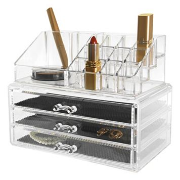 Kiera Grace Makeup & Jewelry Storage Organizer 2-piece Set