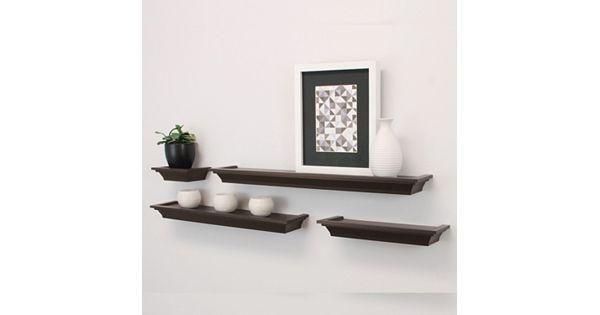 Kiera Grace Classic Ledge Wall Shelf 4 Piece Set