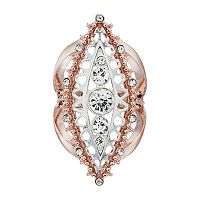 Jennifer Lopez Two Tone Openwork Marquise Stretch Ring