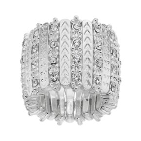 Jennifer Lopez Chevron Bar Stretch Ring