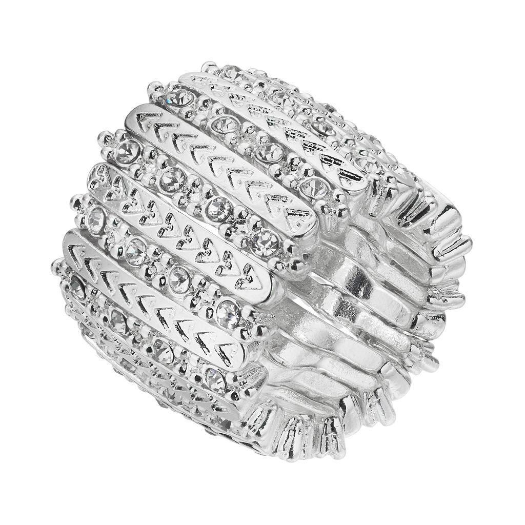 Jennifer Lopez Chevron Bar Stretch Ring