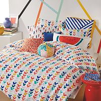 Scribble Check Mark Duvet Cover Set