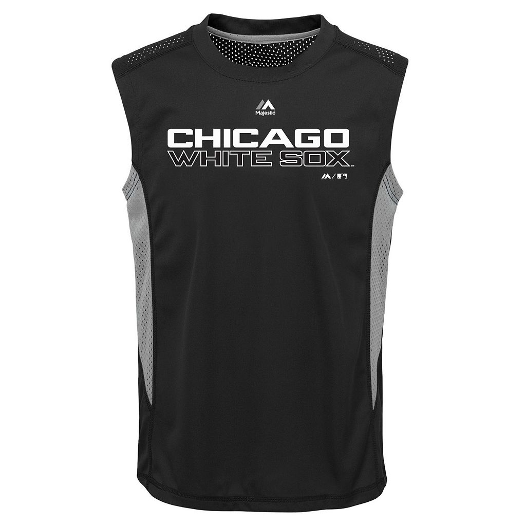 Boys 8-20 Majestic Chicago White Sox Foul Line Muscle Tee