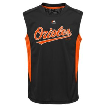 Boys 8-20 Majestic Baltimore Orioles Foul Line Muscle Tee