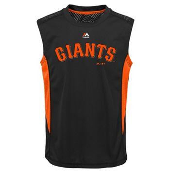 Boys 8-20 Majestic San Francisco Giants Foul Line Muscle Tee