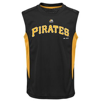Boys 8-20 Majestic Pittsburgh Pirates Foul Line Muscle Tee