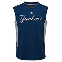 Boys 8-20 Majestic New York Yankees Foul Line Muscle Tee