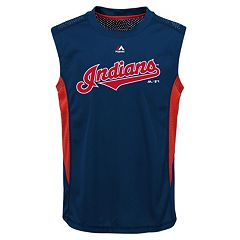 Boys 8-20 Majestic Cleveland Indians Foul Line Muscle Tee