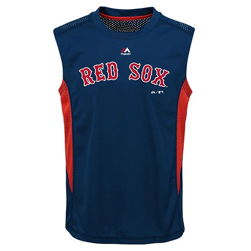 Boys 8-20 Majestic Boston Red Sox Foul Line Muscle Tee
