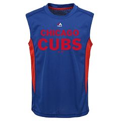 Boys 8-20 Majestic Chicago Cubs Foul Line Muscle Tee