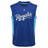 Boys 8-20 Majestic Kansas City Royals Foul Line Muscle Tee