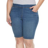 Plus Size Gloria Vanderbilt Avery Pull-On Bermuda Shorts