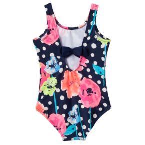 Baby Girl OshKosh B'gosh® Floral & Dot One-Piece Swimsuit