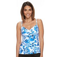 Women's Croft & Barrow® Bust Enhancer Twist-Front Tankini Top